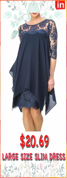 Navy Blue Joyce Women/'s Medium M Sheer Polyester Poncho Top with Lace Back