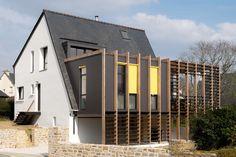 maison, extension, bois, construction environnementale, Bretagne,morbihan