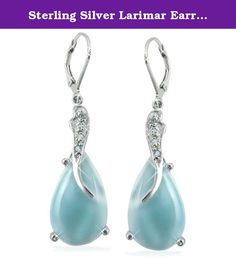 Sterling Silver Larimar Earrings (BTS-NEA3055/LR/SBT/R). Gorgeous sterling silver larimar earrings from our very special new collection. 30 day satisfaction guarantee!.