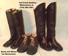 Civil war boots and shoes