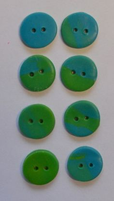 grennblue colored buttons, nr 133 from Olivia's shop by DaWanda.com