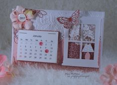 I love my mini calendars.  They make perfect gifts.  This is my calendar for 2015