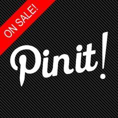 Pinterest Pin-it Decal #pinterest #pin-it #decal #sticker #social #queen #pinner #invite #pinboards