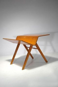 Hein Stolle; Birch Plywood Magazine Table for Group &, c1947.