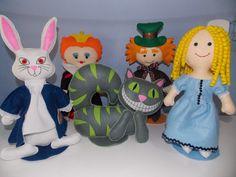 Personagens de feltro Alice
