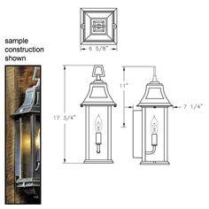 Hanover Lantern B8901 Salem Small Outdoor Sconce - ATG Stores