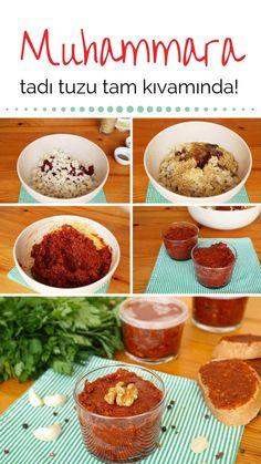 Muhammara Tarifi (videolu) nasıl yapılır? 9.414 kişinin defterindeki Muhammara Tarifi (videolu)'un resimli anlatımı ve deneyenlerin fotoğrafları burada. Yazar: Arzu Ayla Party Fotos, Cooking Recipes, Healthy Recipes, Healthy Food, Turkish Recipes, No Cook Meals, Appetizer Recipes, Food And Drink, Easy Meals