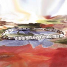 Excited to share the latest addition to my #etsy shop: Vintage Diamond Bracelet Retro 1950's Diamond Tennis Wedding Anniversary Frank Krementz 18k White Gold Bracelet #vintagebracelets