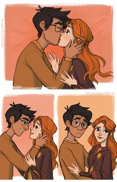 Tagged with funny, comic, harry potter, right in the feels; Harry Potter comics by Loquacious Literature Harry Potter Kiss, Harry Potter Comics, Harry Potter Drawings, Harry Potter Anime, Harry Potter Fan Art, Harry Potter Universal, Harry Potter Memes, Harry Potter World, Ginny Weasley