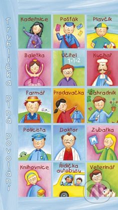 Truhlicka plna povolani Projects For Kids, Montessori, My Books, Language, Learning, Words, Children, Fictional Characters, Projects