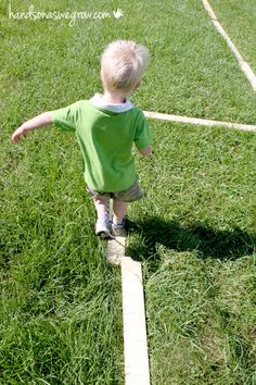 A balance beam for toddlers - no worrying about them falling off!