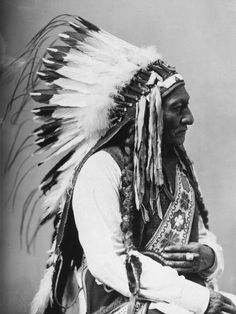 American Indian Chief.  Fantastic headpiece - so regal.