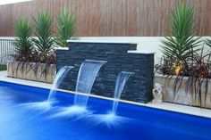Swimming Pool Designs by Leisure Pools Swimming Pool Landscaping, Luxury Swimming Pools, Small Backyard Pools, Backyard Pool Designs, Luxury Pools, Landscaping Tips, Piscina Rectangular, Piscina Spa, Kleiner Pool Design