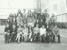 Photo de classe TD1 de 1974, Lycée Eugène Delacroix
