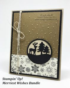 Masculine Deer Medallion card created by Kay Kalthoff Stamping to Share with Stampin' Up! Merriest Wishes Bundle