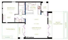 modern casita floorplan | 61custom