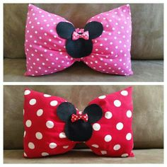 Personalized Minnie Mouse Bow Pillow, Pink Minnie Mouse Pillow, Minnie Mouse Birthday gift, Minnie Mouse bedroom, Red Minnie Mouse Pillow – Knitting And Crochet Bow Pillows, Cute Pillows, Sewing Pillows, Red Minnie Mouse, Pink Minnie, Disney Diy, Disney Crafts, Sewing For Kids, Baby Sewing
