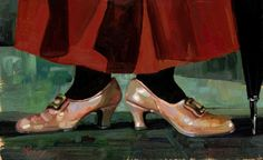 Lisa Keene - Mary's Chimchimeny Shoes From Mary Poppins Original Oil on Canvas Julie Andrews Mary Poppins, Mary Poppins Movie, Mary Poppins 1964, Merry Poppins, Movie Showtimes, Disney Fine Art, When They Cry, Walt Disney Pictures, Disney Films