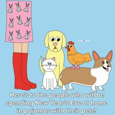 Who needs parties when we have pjs and pets? Happy New Year's Eve! Owl Sanctuary, Animal Lover Quotes, Dog Quotes, Qoutes, Luxury Dog Collars, Amor Animal, Happy New Years Eve, New Year Celebration, Christmas And New Year