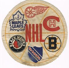 Oh my, this NHL Original Six patch is all kinds of awesome. Original Six, Maple Leafs Hockey, Toronto Star, Record Art, Hockey Goalie, Toronto Blue Jays, Toronto Maple Leafs, Boston Bruins, 4th Birthday Parties