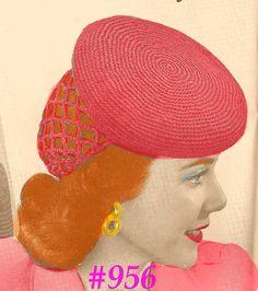 snood + beret #vintage #crochet pattern 1942