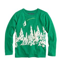 Crew for the Boys' glow-in-the-dark waa hooo T-shirt. Find the best selection of Boys Shirts & Tops available in-stores and online. Boys Shirts, Graphic Sweatshirt, T Shirt, Toddler Boys, My Boys, Boy Outfits, The Darkest, Christmas Sweaters, J Crew