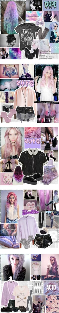 """Pastel Goth Showcase"" by elaine-elizabethxo ❤ liked on Polyvore"