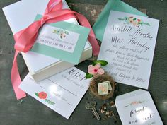 Wedding Invitations. Wedding Invites . Custom by sweetinvitationco