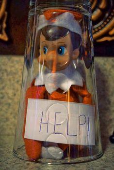 Elf on the Shelf ideas.