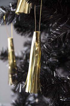 Pack Of 3 Gold Tassel Hanging Decorations from Rockett St George Rockett St George Dark Christmas, Magical Christmas, Hanging Decorations, Christmas Tree Decorations, Rockett St George, Xmas Tree, Cool Gifts, Incense, Tassels