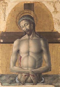 """Antonio Vivarini - Imago Pietatis - Polittico di Andria - 1467 - Bari, Pinacoteca """"Corrado Giaquinto"""""""
