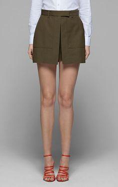 Women's Skirt - Caslyn W Stretch Cotton Skirt - Theory.com