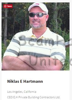 DAVE WALTER MANCINI.. same pics as Stark Lawrence Joseph and well used in scamming. #scam https://www.facebook.com/LoveRescuers/posts/607355769430854  NIKLAS E HARTMANN