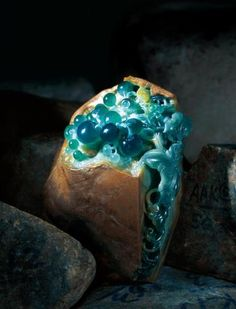 Jadeite Artist Junyi Wang if this jade... this is a very rare colour! and extremely beautiful of blue