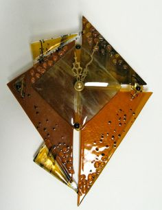 fused glass clocks   Fused Glass Art Clock by Incolorgallery on Etsy, $66.00