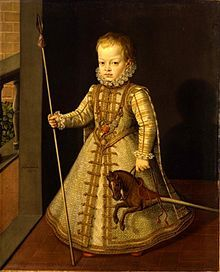 Diego, Prince of Asturias (1575 - 1582). Son of Philip II and Anne of Austria.