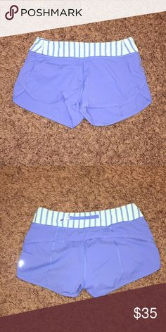 Ivivva blue shorts size 14 kids or size 2 womens The shorts are in perfect condition only worn once or twice! lululemon athletica Shorts