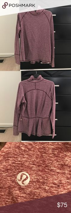 Lululemon top Long sleeve top with gather detail. Holes for thumbs on sleeves. Worn once. No tag inside but size 10 lululemon athletica Tops Tees - Long Sleeve