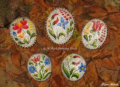 pretty Hungarian-inspired painted rocks