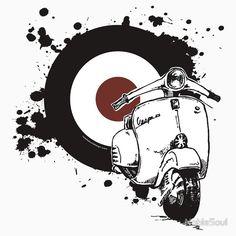 39 Ideas For Motorcycle Art Design Vintage Posters Vintage Vespa, Vintage T-shirts, Vintage Bikes, Motorcycle Posters, Bike Art, Motorcycle Helmets, Motor Scooters, Vespa Scooters, Triumph Motorcycles