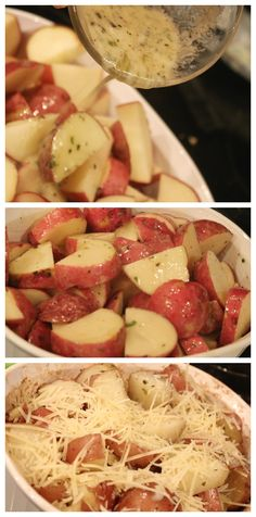 Easy & delicious! Parmesan Roasted Garlic & Herb Potatoes