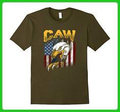 Mens Caw! American Bald Eagle, July Fourth Patriot T-Shirt 2XL Olive - Holiday and seasonal shirts (*Amazon Partner-Link)