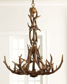 Faux-Antler Chandelier at Horchow.