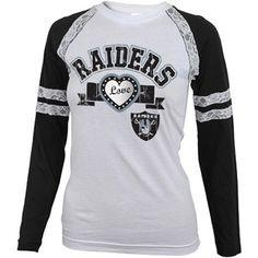 d4ef2167b NFL Girls  Oakland Raiders Long Sleeve Tee