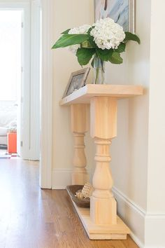 Yippee! I can check this off of my DIY bucket list! This easy DIY console table was the first piece of furniture I ever tried to build. Step by step, illustrated tutorial with recommended supplies and tools. A perfect spruce up for my home decor.