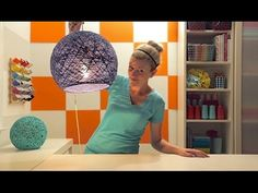 How To Make A Lamp, Lantern, and Globe Using Yarn!