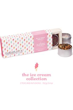 A collection of three sweetly nostalgic, ice cream-inspired teas. Davids Tea, Gift Suggestions, My Tea, Coffee Drinks, Teas, Tea Time, Brewing, Drinking, Branding Design
