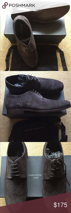 John Varvatos Star U.S.A. Coffee Suede Wingtips John Varvatos Star U.S.A. Size 11 / 45 EU Sid Heritage Wingtip suede shoes. Color 213 - Coffee. Never worn and in original box. John Varvatos Shoes Oxfords & Derbys