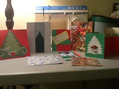 """Xmas cards for charity (first of two """"make cards for charity"""" projects I've done at the office)"""