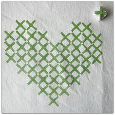 Cross-Stitch Stamp on Fabric